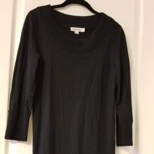 Black Wool Calvin Klein Tunic Dress